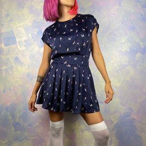 Adorable whimsical print dress